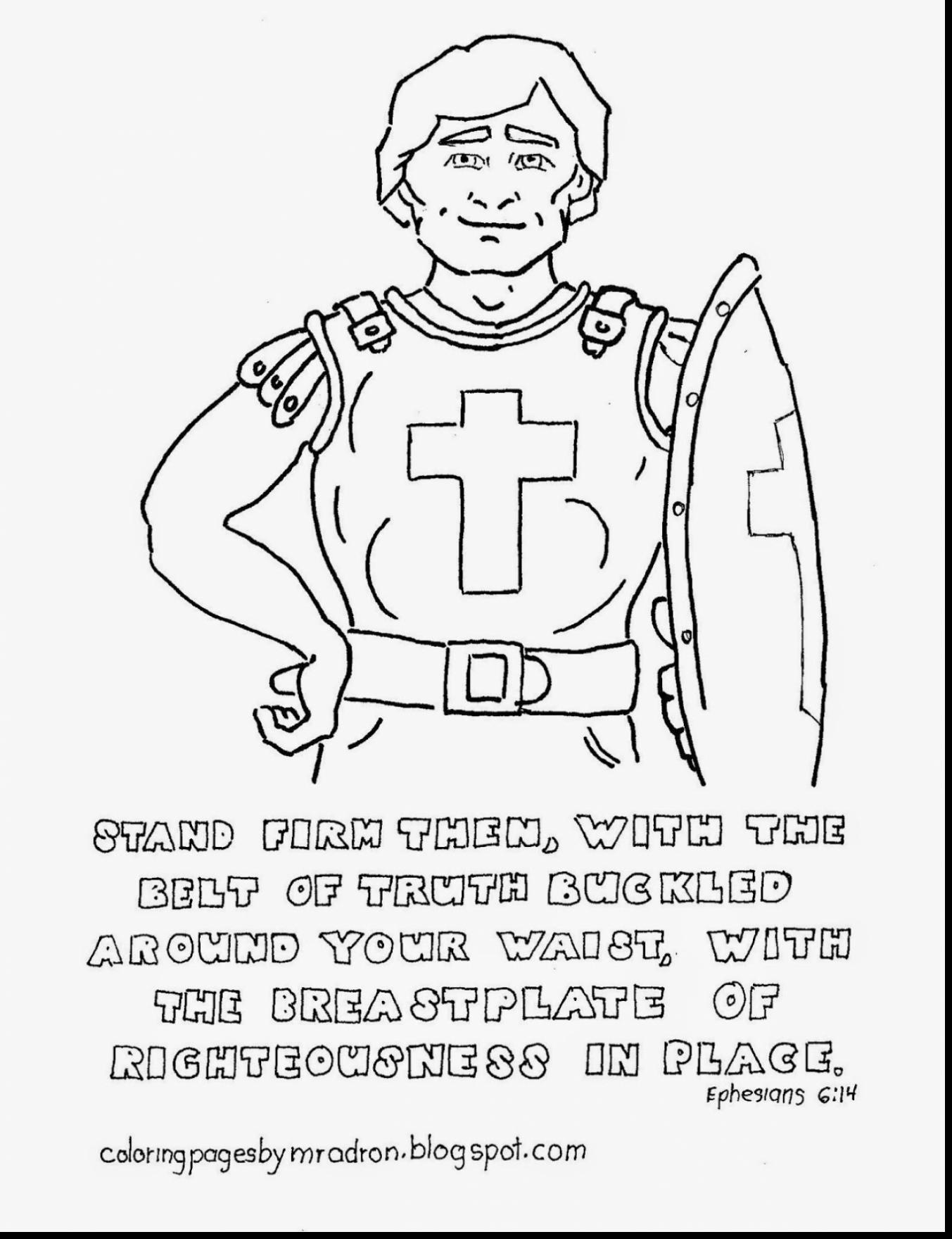 Armor Of God Coloring Page - Auromas.com