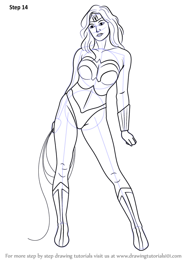 Learn How to Draw Wonder Woman (Wonder Woman) Step by Step ...