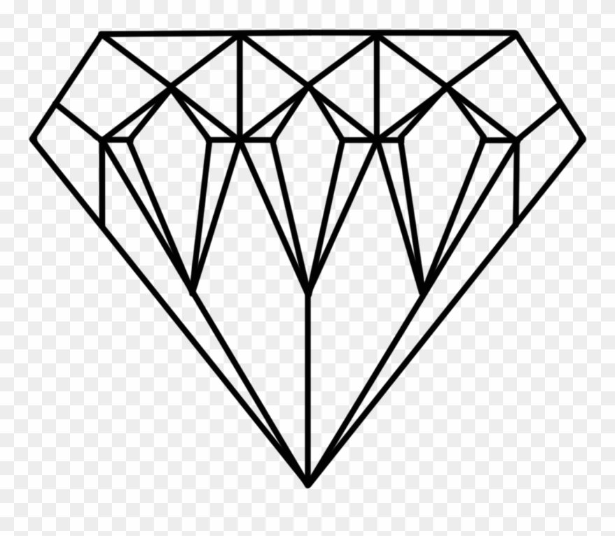 Diamonds Clipart Jewel - Diamond Printable Coloring Page ...