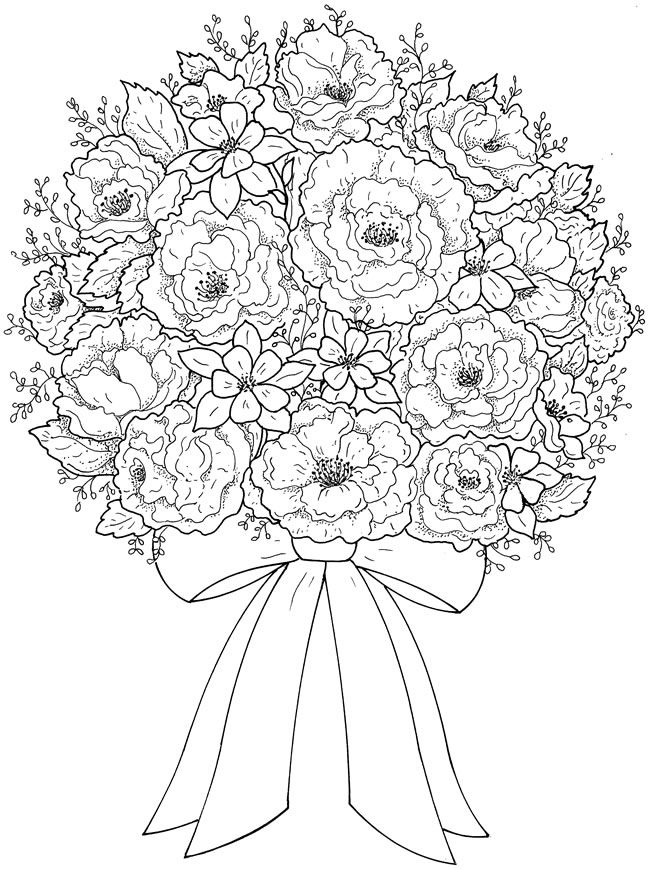 Pretty Flower Coloring Pages At Getdrawings Com Free For Coloring Home