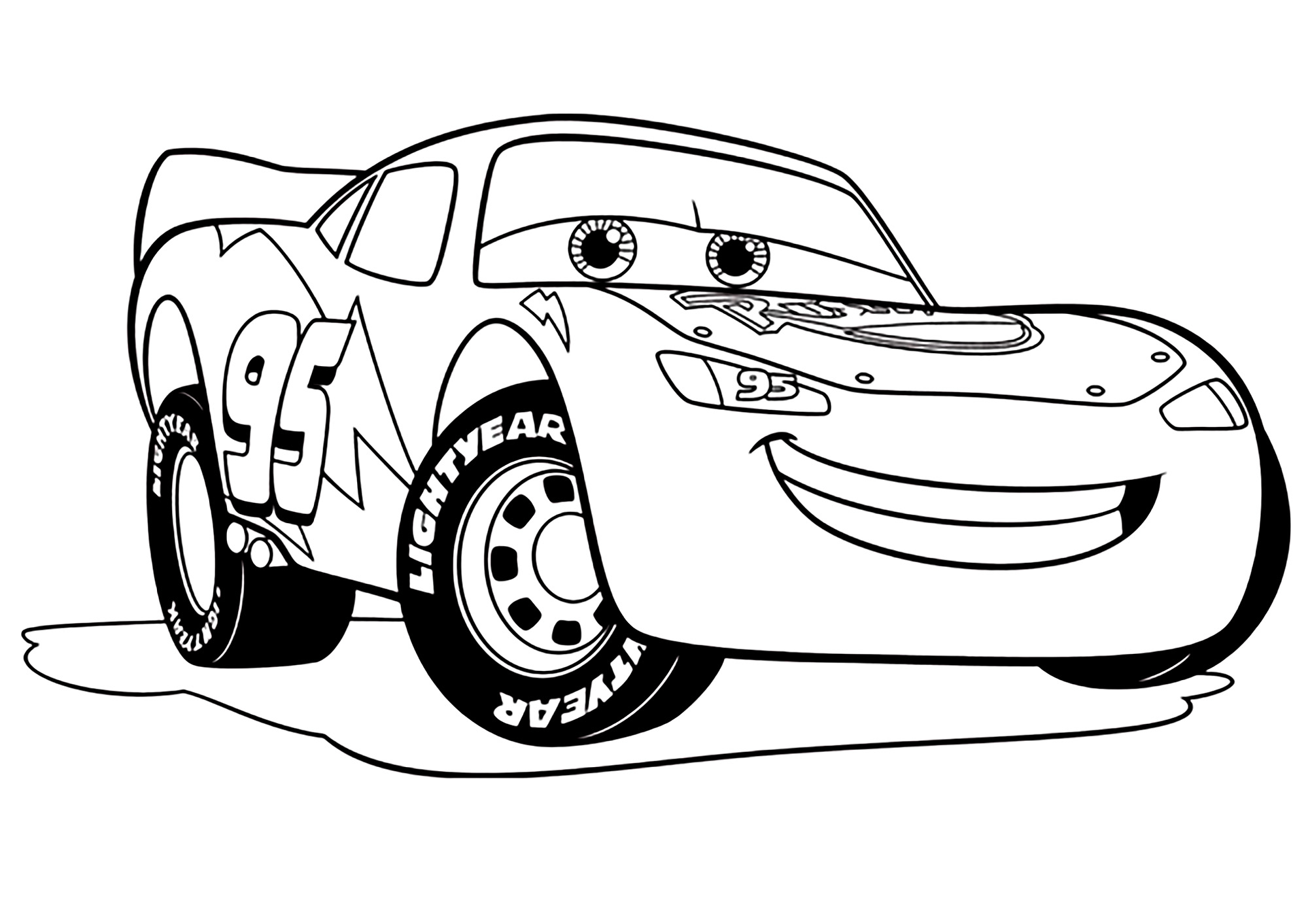 Coloring Pages Coloring For Kids Lightning Mcqueen Free Coloring Home