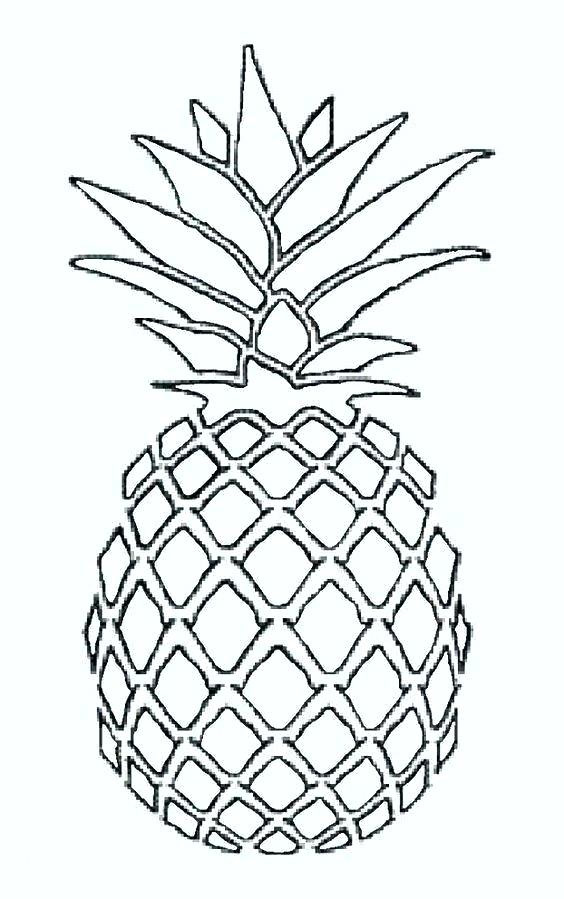 - Pineapples Coloring Pages - Coloring Home