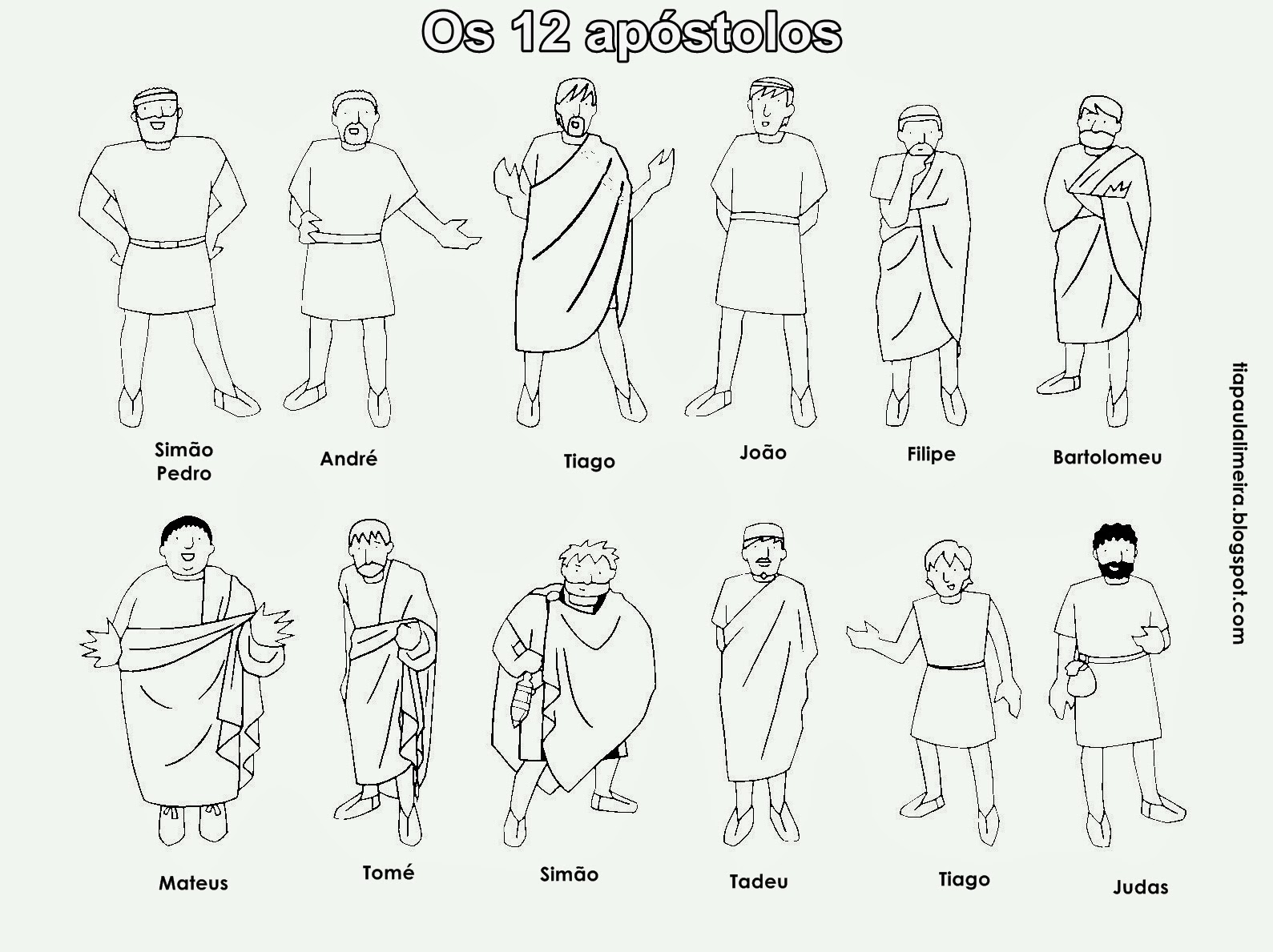 Names Of Jesus 12 Disciples Coloring Pages Coloring Home