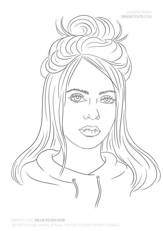 Billie Eilish In 2020 | Drawing Tutorial, Billie Eilish ...