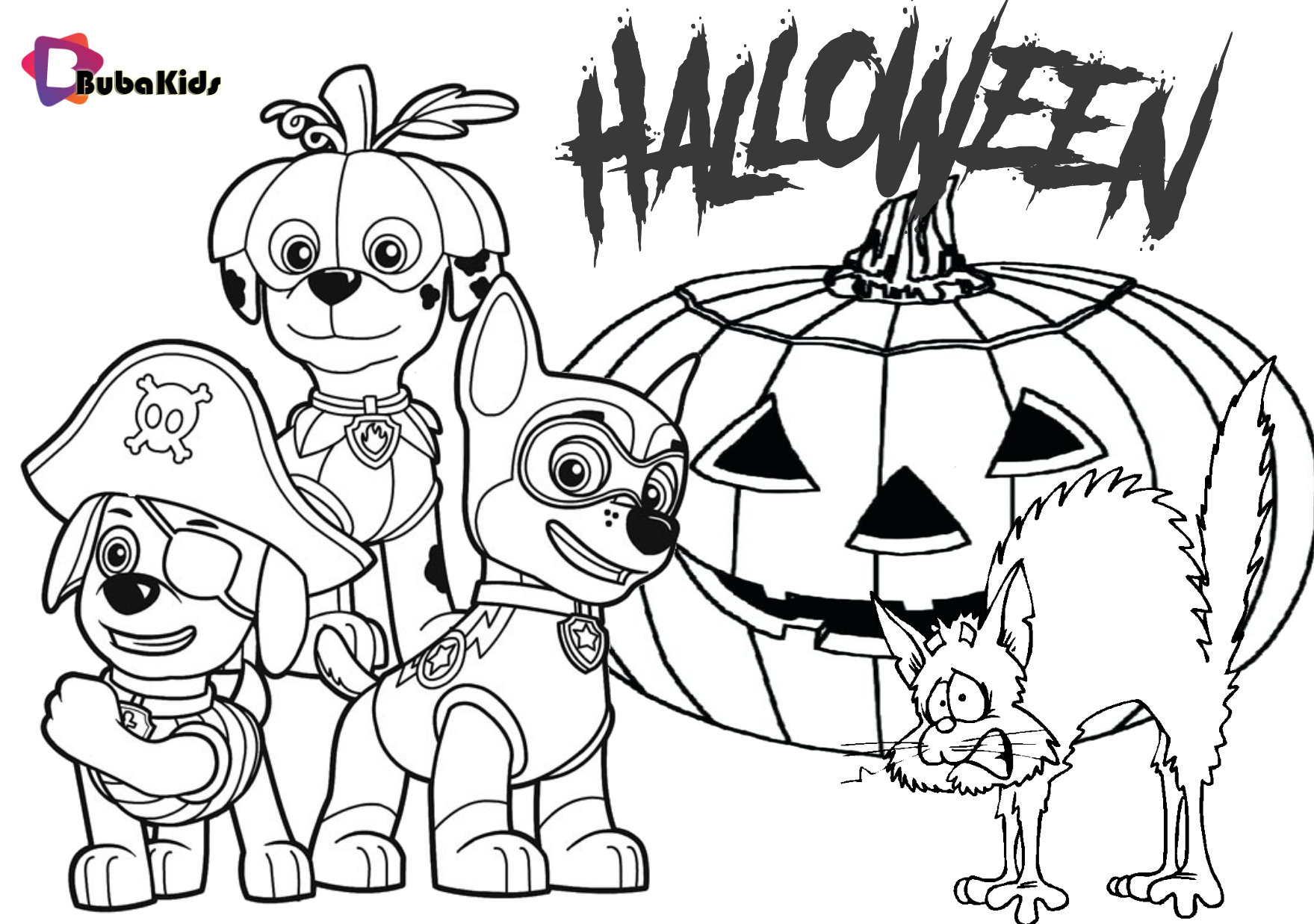 paw patrol halloween coloring pages  coloring home