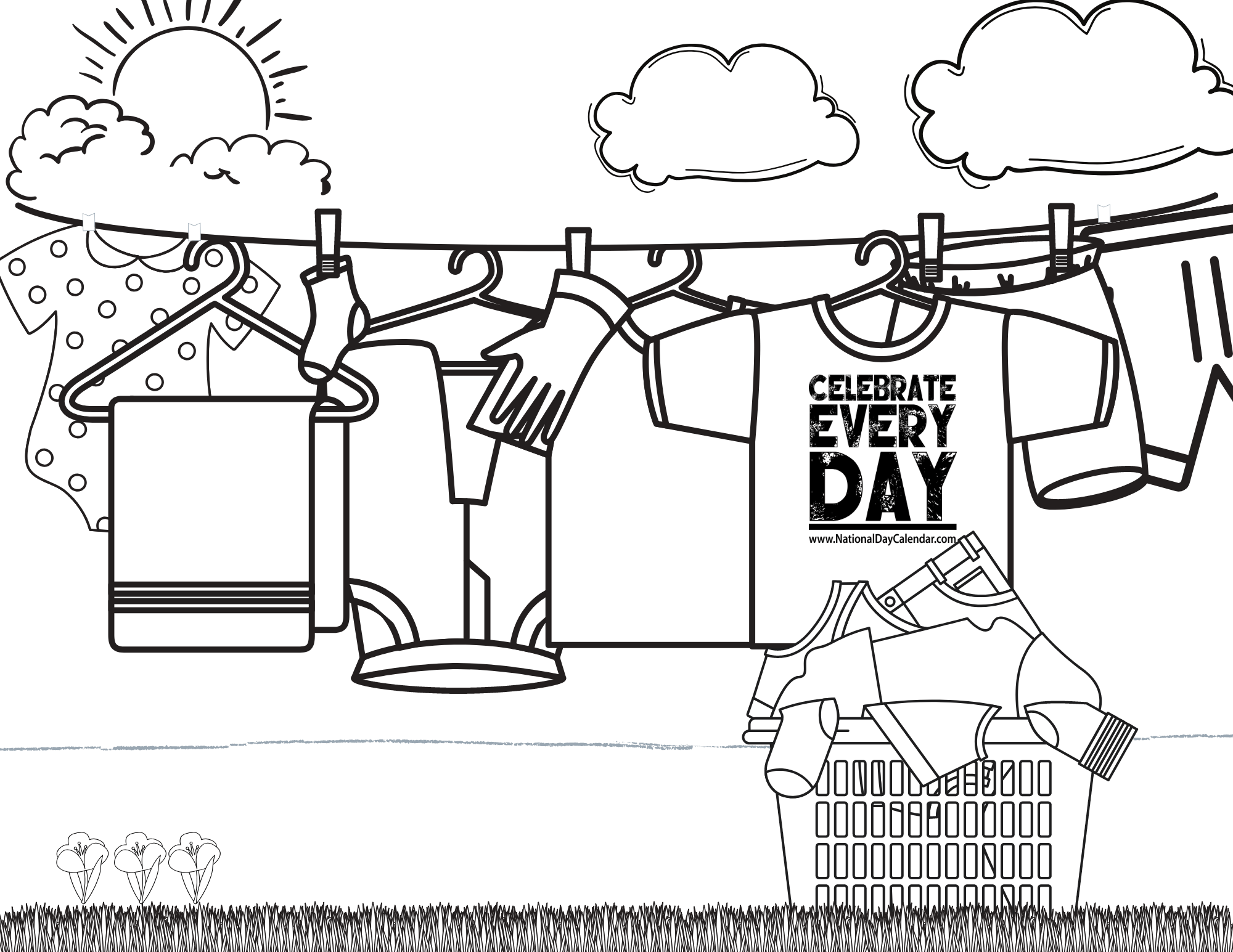 CLASSROOM - COLORING PAGES - National Day Calendar