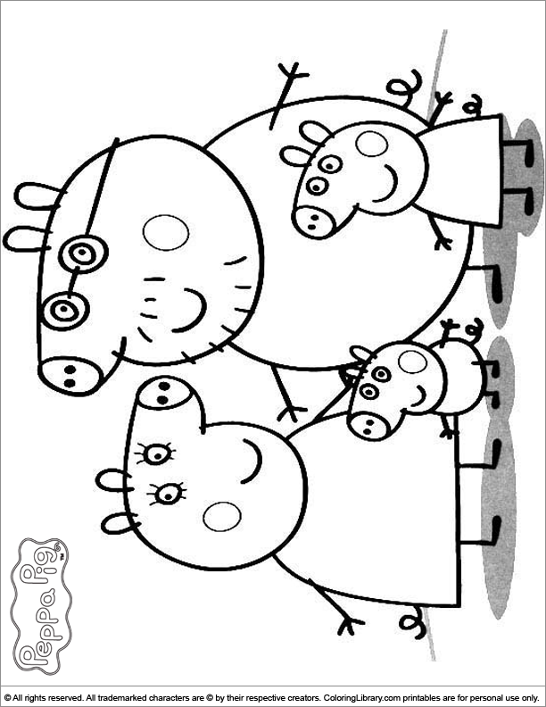 Peppa Pig Family Coloring Pages - Coloring Home