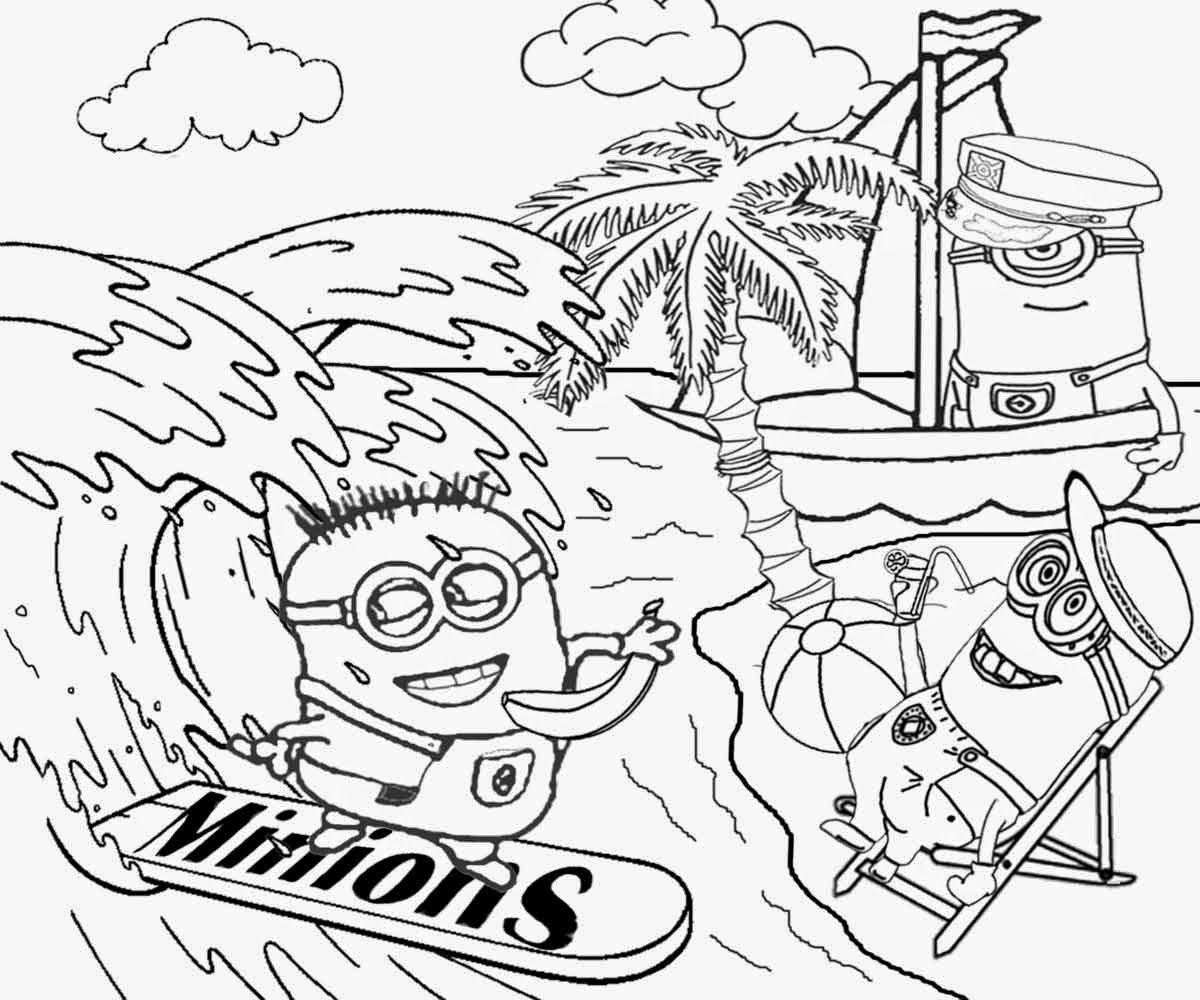 minions coloring pages banana split - photo#30