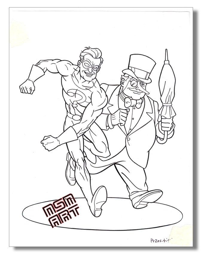 batman riddler coloring pages - photo#7