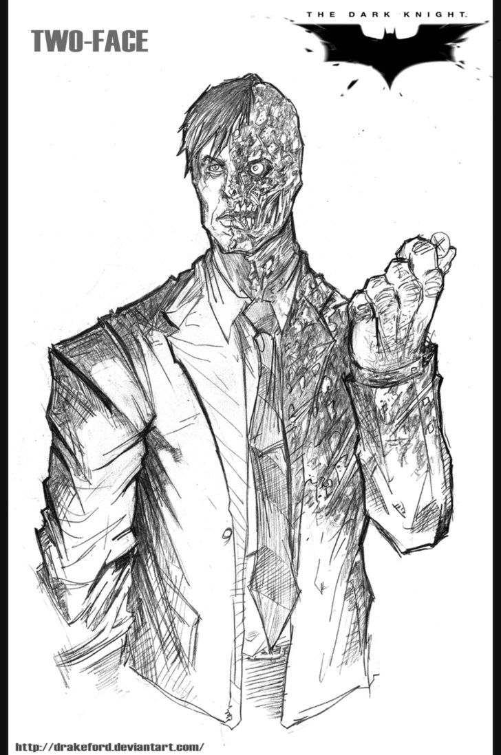 Adult Beauty Two Face Coloring Pages Gallery Images beauty the dark night coloring pages for kids and printable knight rises two face by drakeford on deviantart gallery images