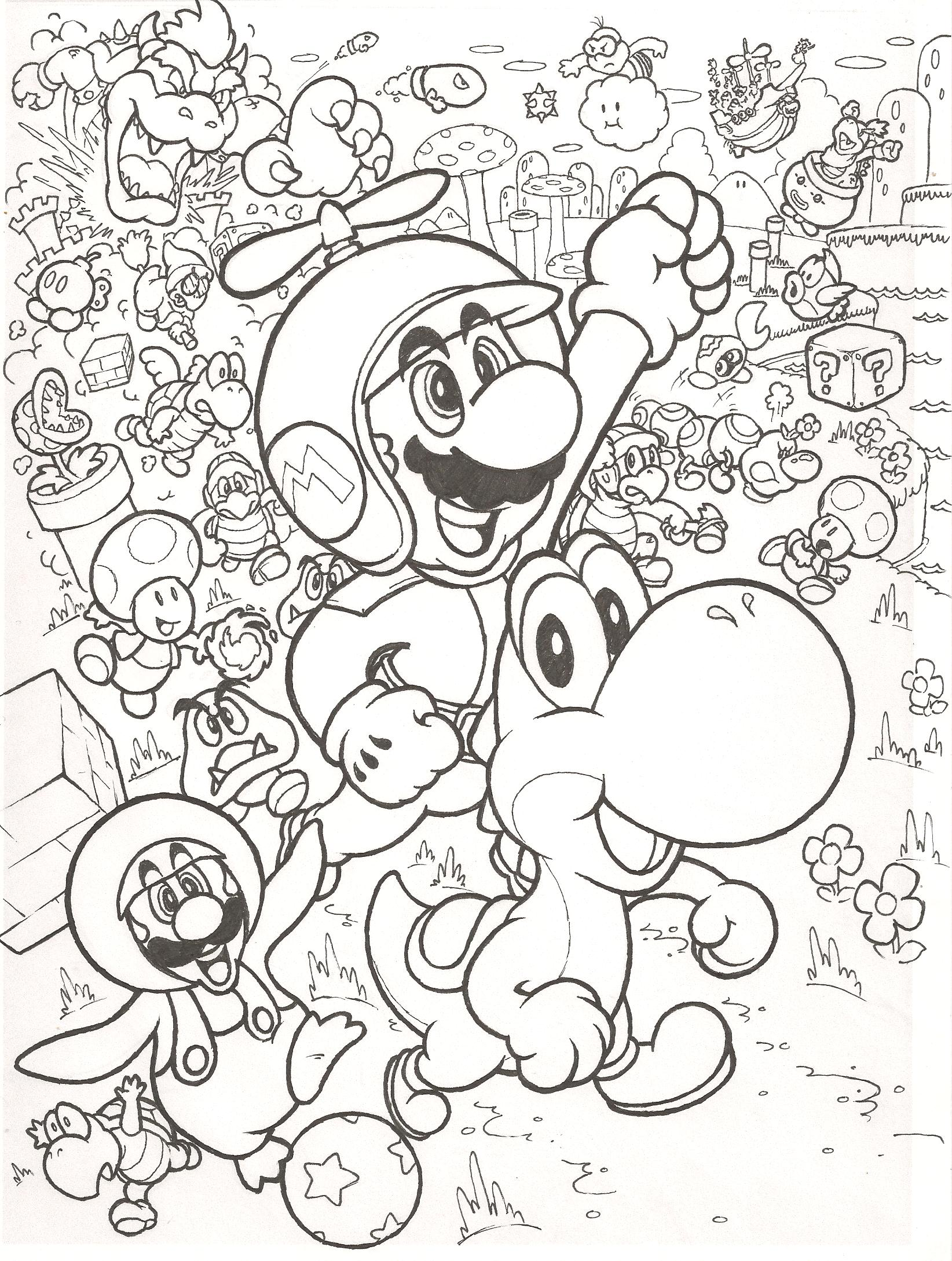 3Ds Super Smash Bros Coloring Pages - Coloring Pages For All Ages