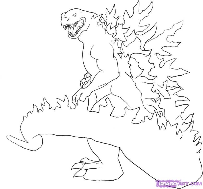 Godzilla coloring pages to download and print for free
