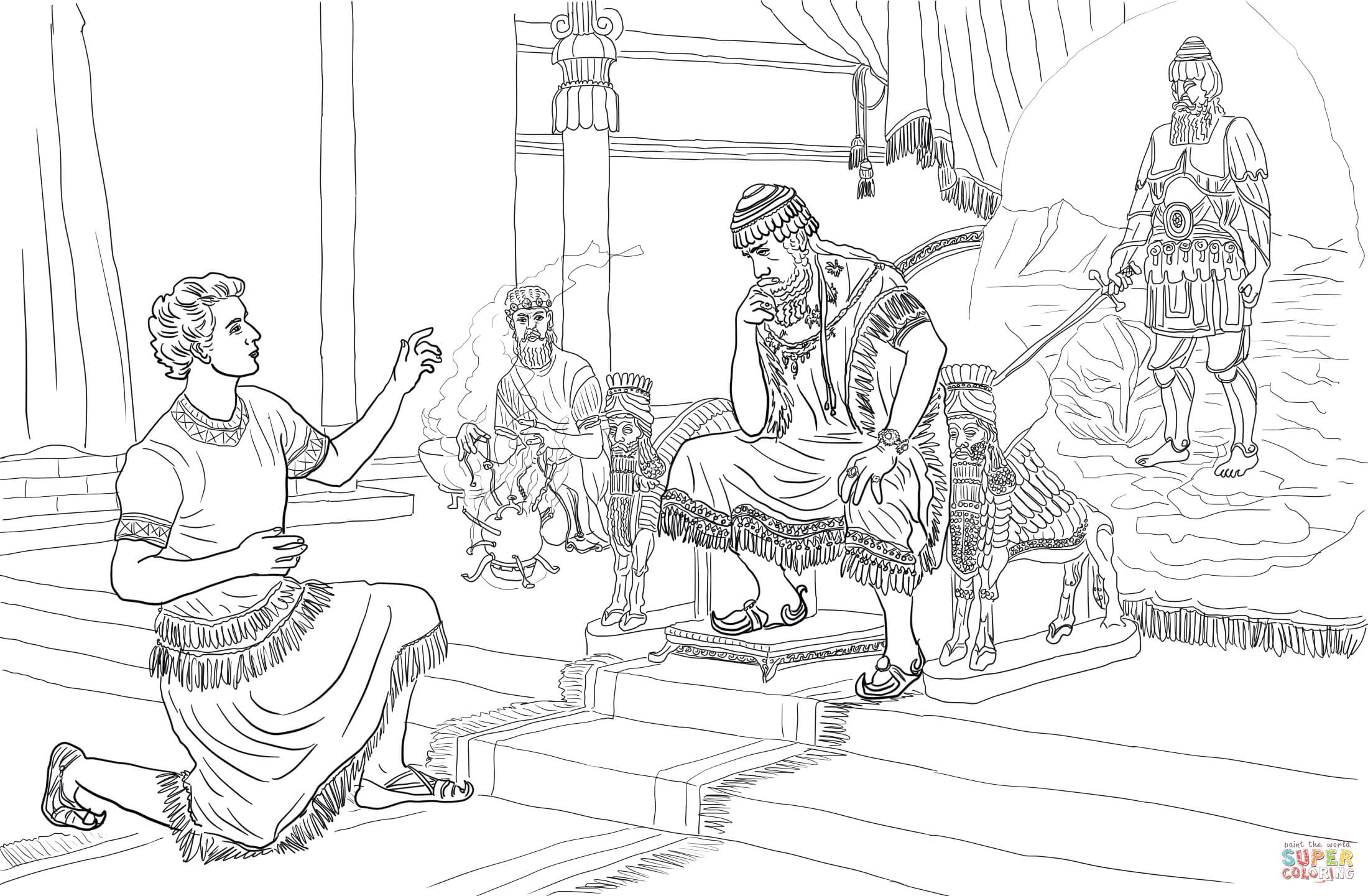 Joseph Dream Coloring Page