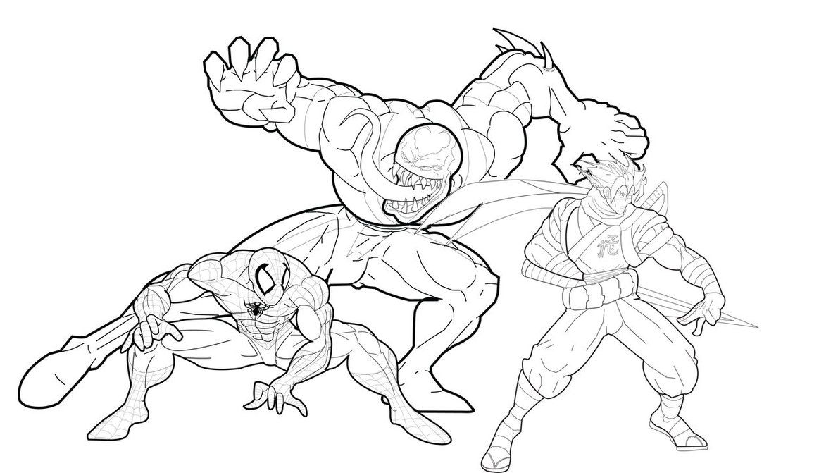 Coloring pages venom