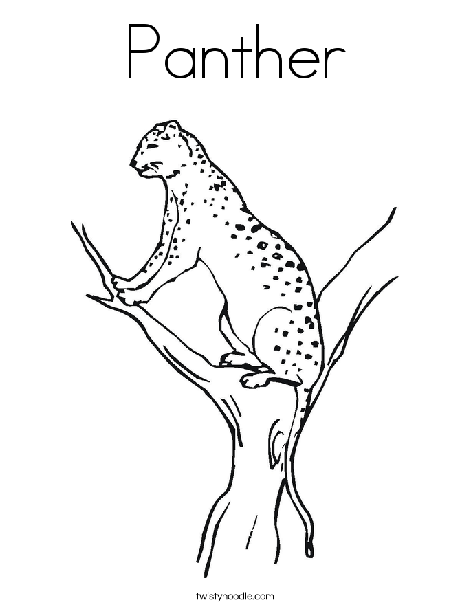 Florida panthers coloring page coloring home for Panther coloring page