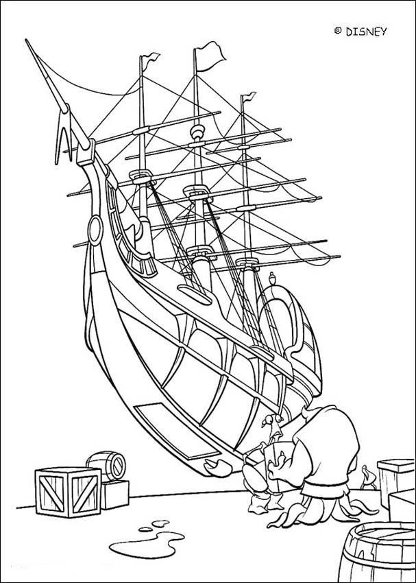 Treasure Planet Coloring Book Pages Treasure Planet Ship