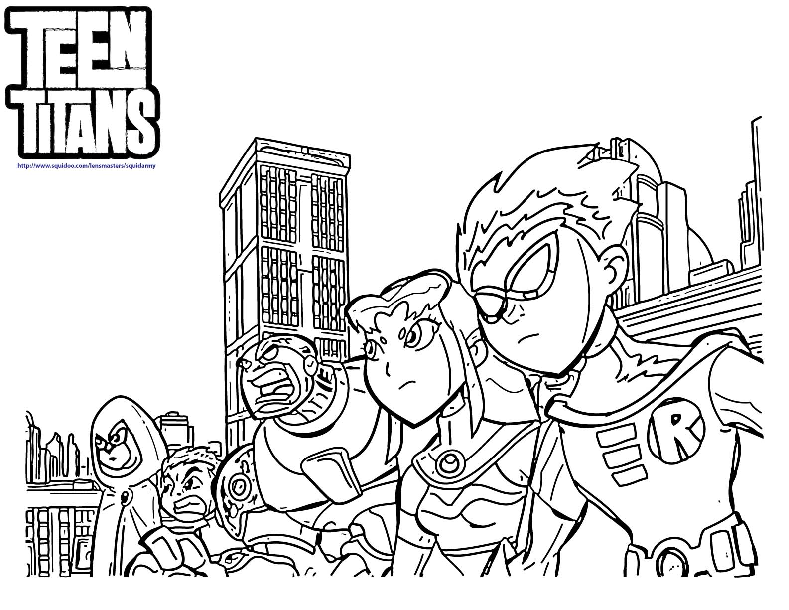 Teen Titans Coloring Book Coloring Pages For Kids And For Adults