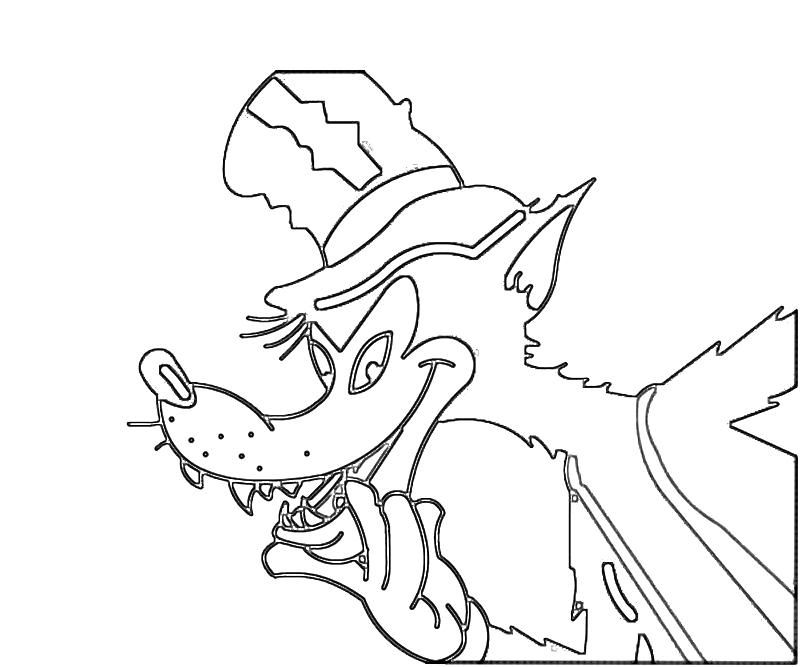 Wolf Coloring Pages Pdf : Big bad wolf face coloring pages quoteko az