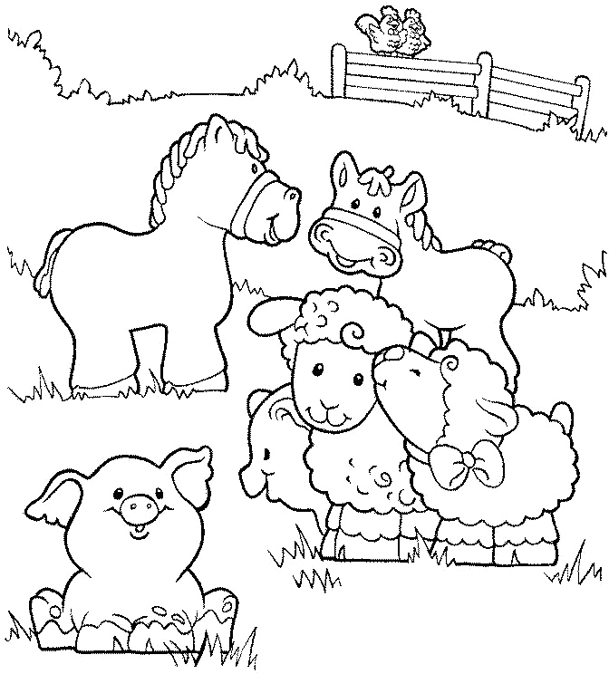 printable coloring pages farm animal - photo#1
