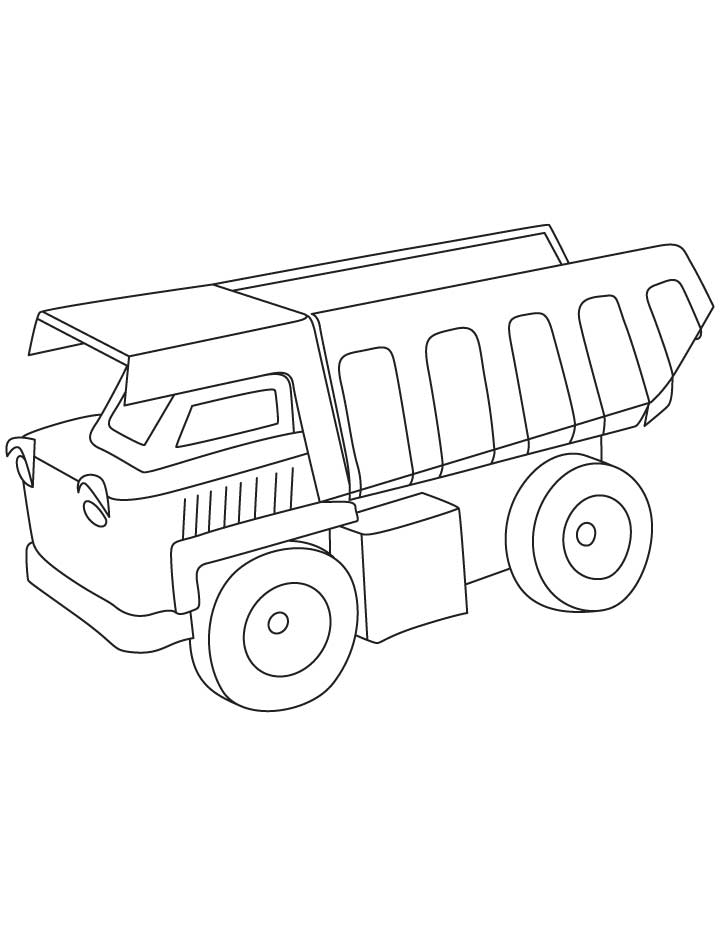 dump truck coloring pages online - photo#20