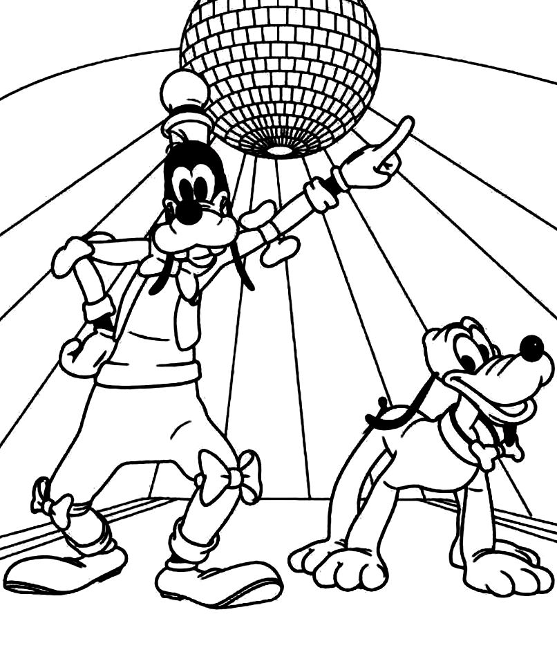 disco coloring pages | Disco Ball Coloring Pages Sketch Coloring Page