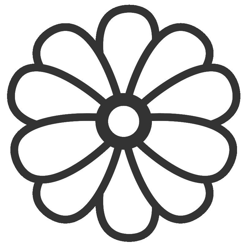 Large Flower Template Printable - Coloring Home