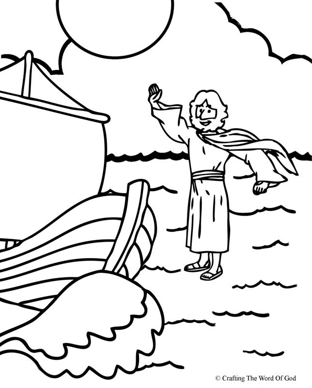 Jesus Walks On Water- Coloring Page « Crafting The Word Of God ...
