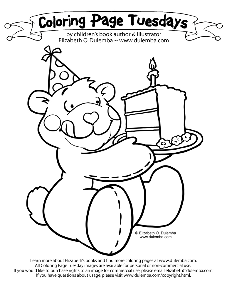 birthday grandmother coloring pages - photo#18