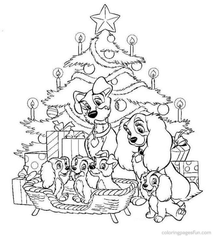 Christmas Disney | Free Printable Coloring Pages
