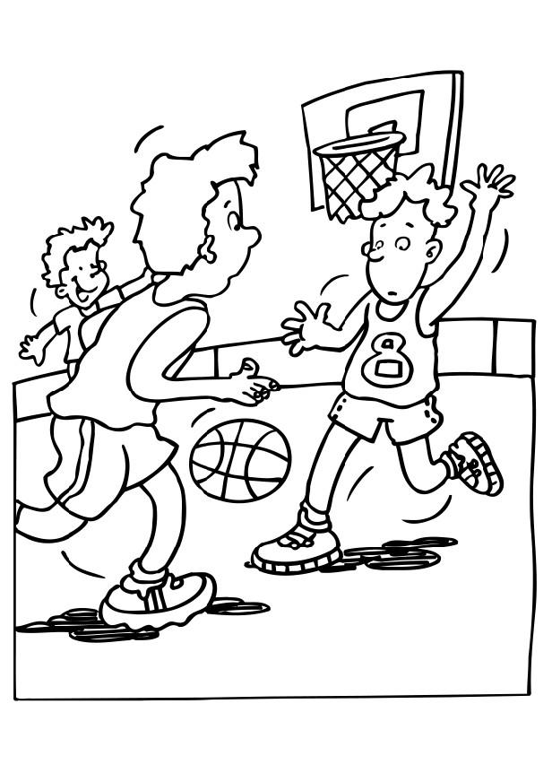 Basketball Coloring Sheets  Coloring Home