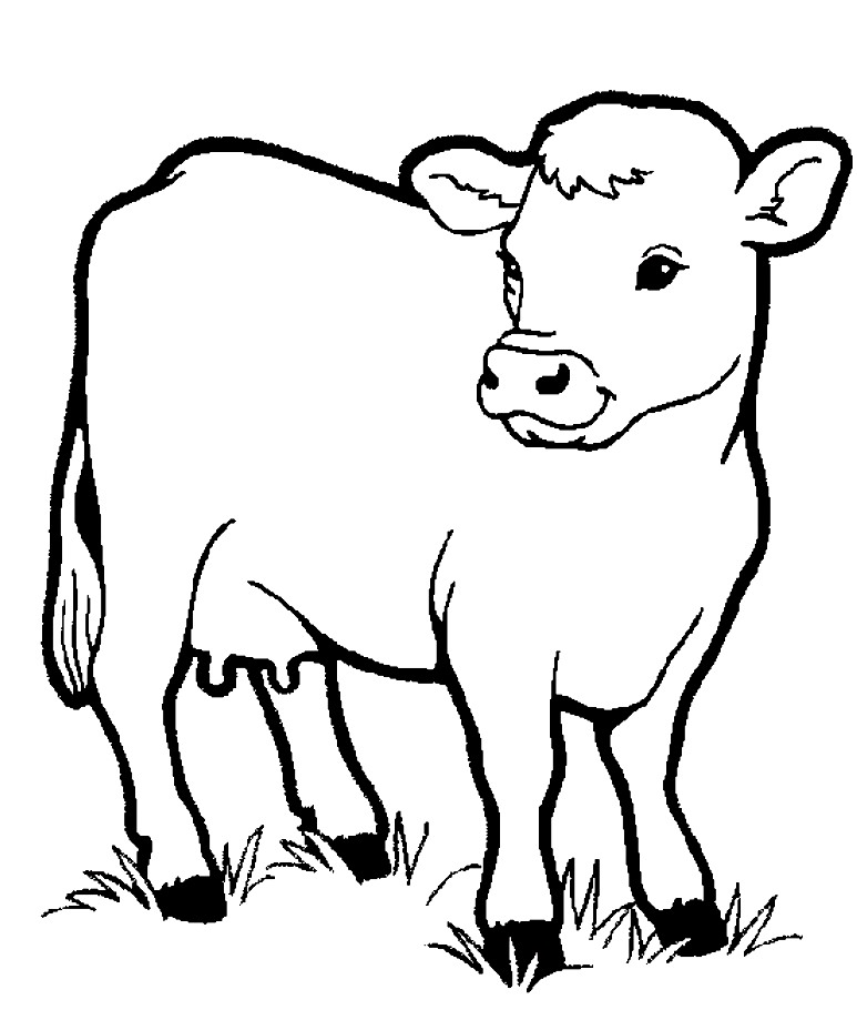 Colouring Pages For Farm Animals : Coloring pages of farm animals az
