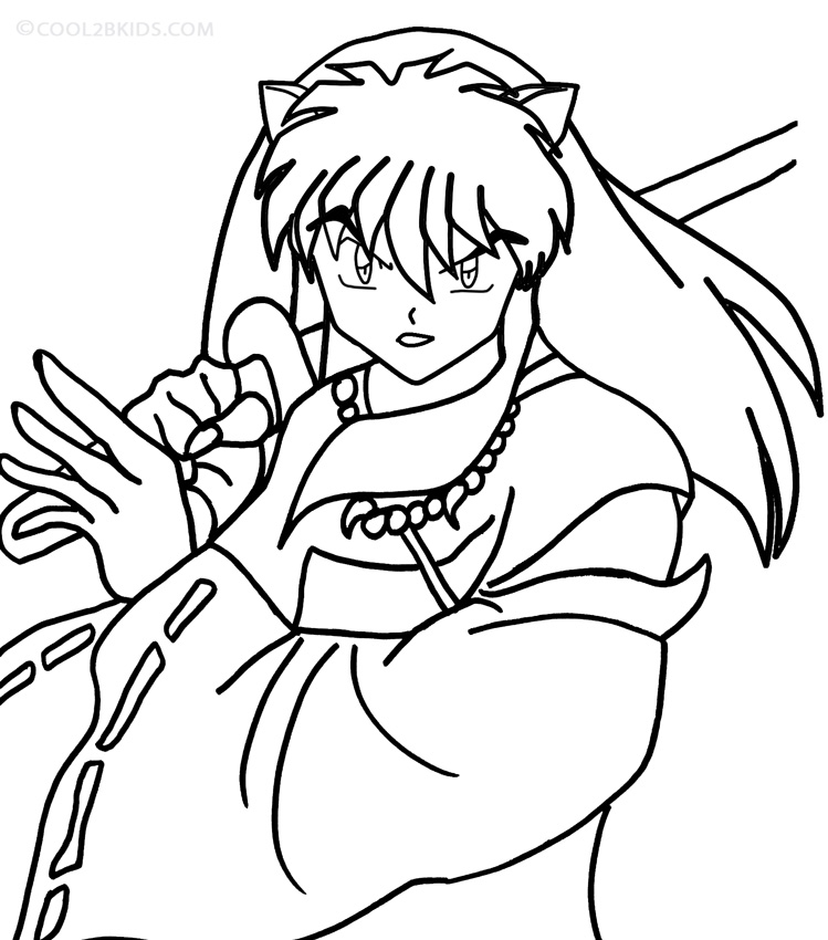 online coloring pages inuyasha - photo#3