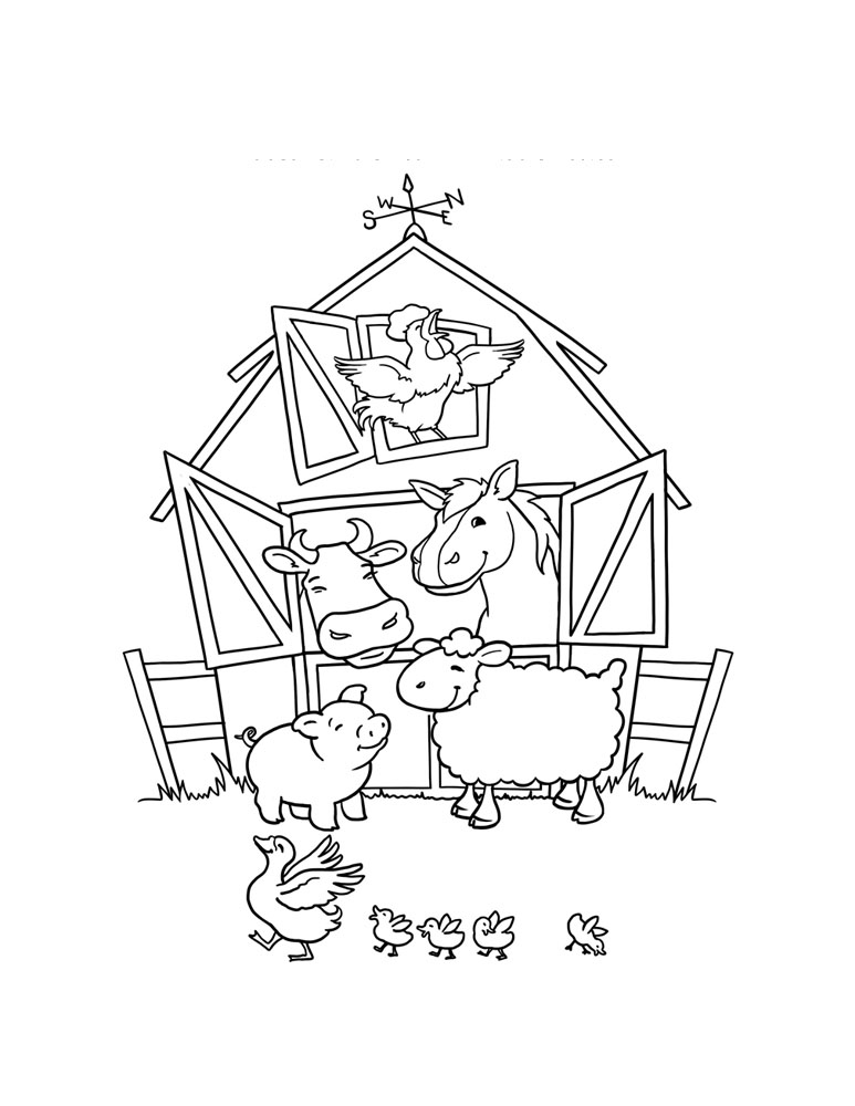 Barn Animals Coloring Pages