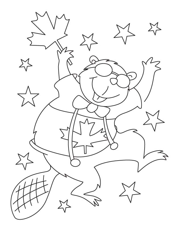 Canada Flag Coloring Page Coloring Home Canada Coloring Pages