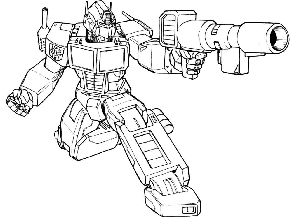 Transformer Color Page Coloring Home Transformers Coloring Page