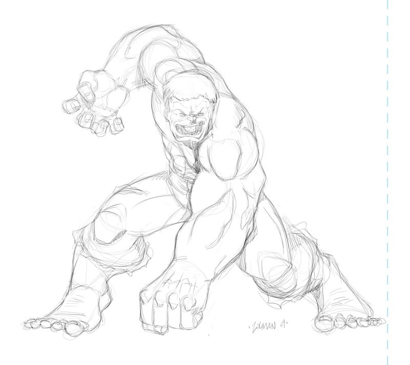 Drawing Of The Hulk Coloring Home