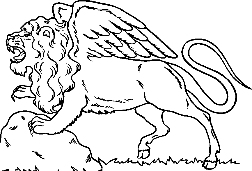 Coloring Lion Home