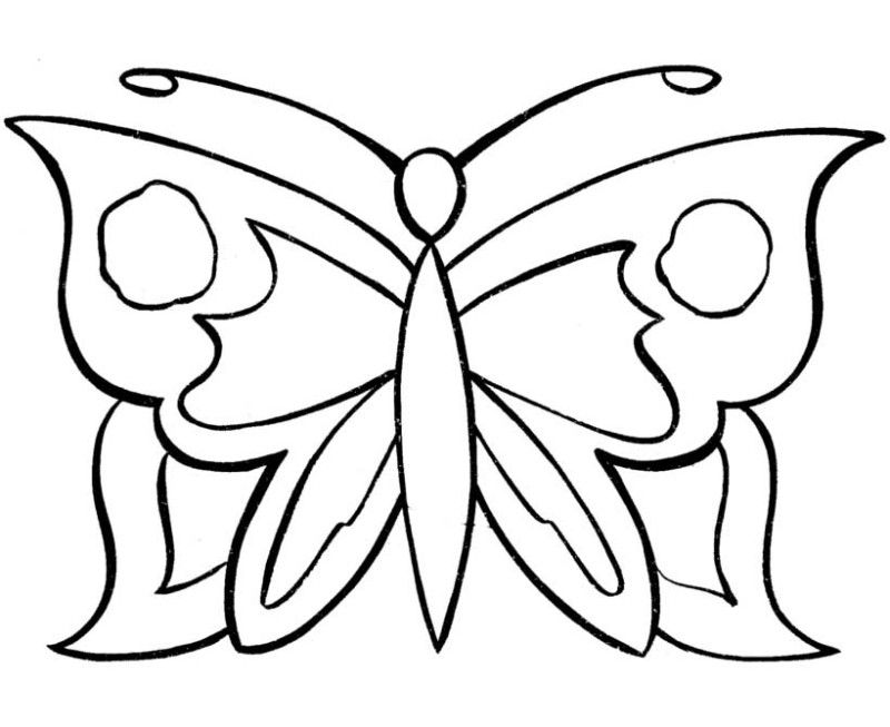 color in butterfly - coloring home - Butterfly Coloring Pages Kids
