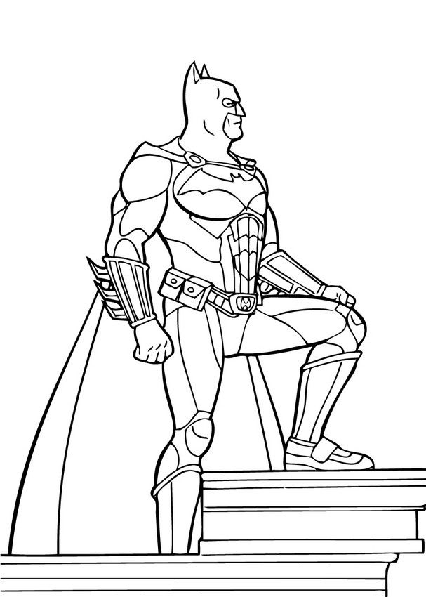 BATMAN coloring pages - Criminals fighting together