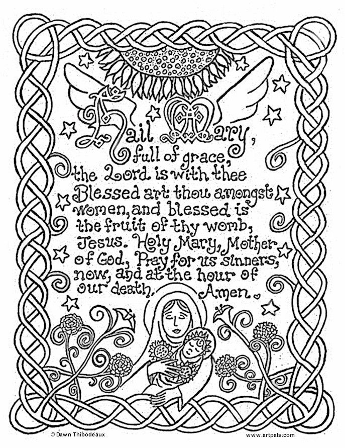 Blessed mary coloring pages coloring home for Blessed mother coloring page