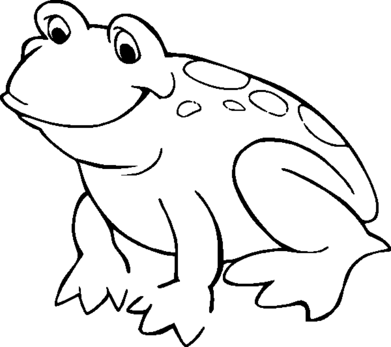 Frog Coloring Pages For Kids Coloring Home Colouring Pictures For Toddlers