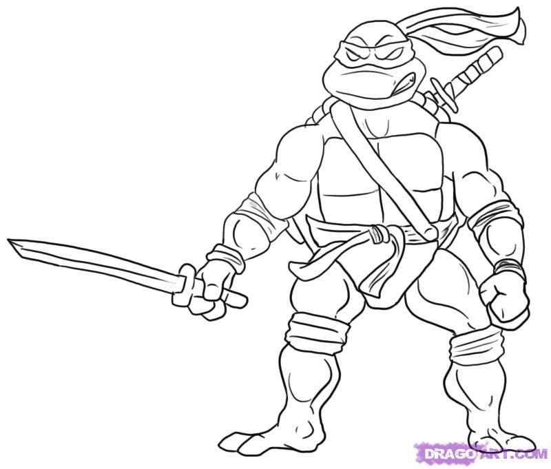 girl ninja turtles coloring pages - photo#23