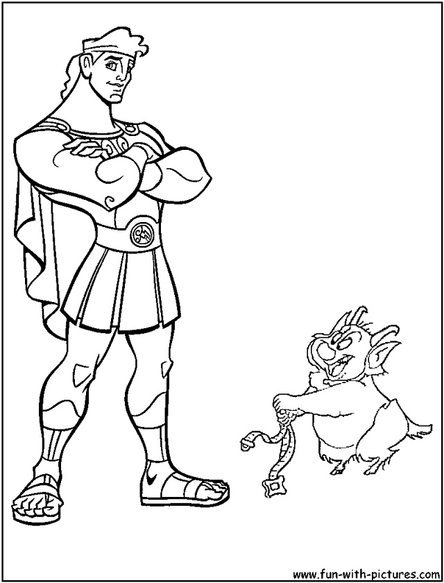Disney Hercules Coloring Pages - Coloring Home