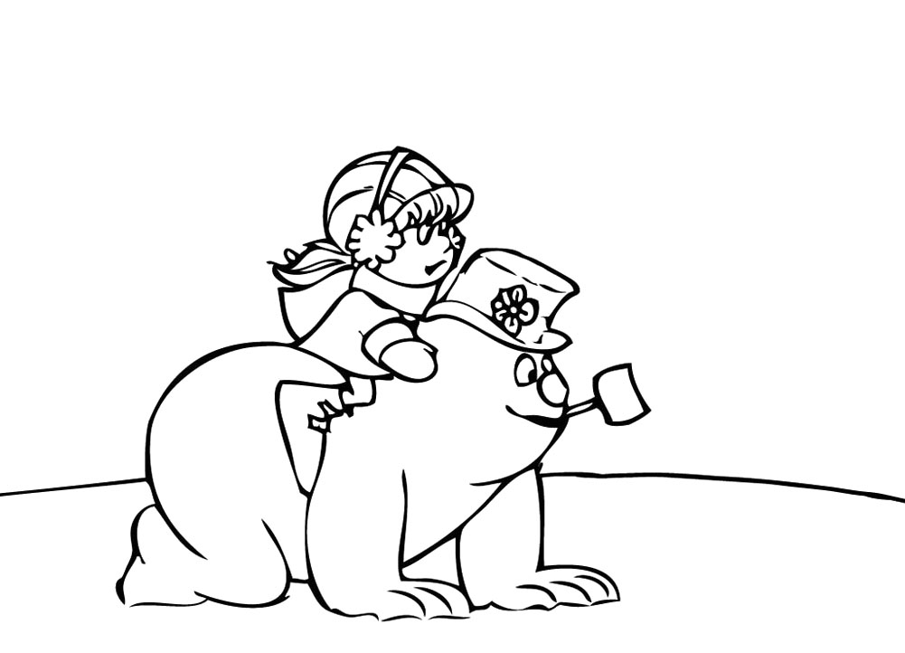 the snowman coloring pages - photo#32