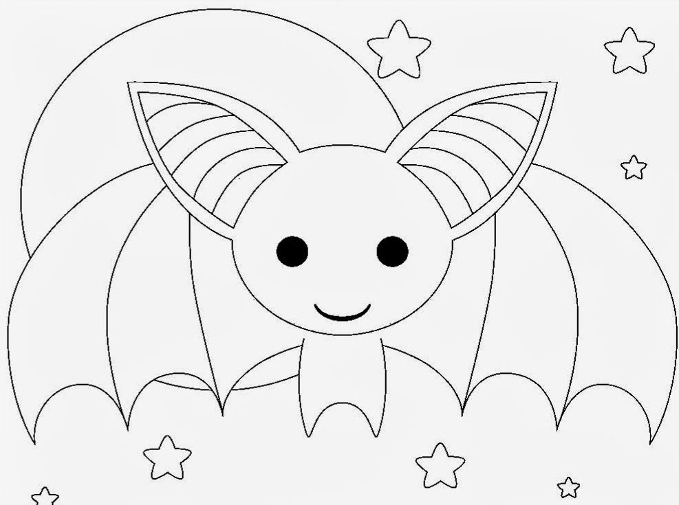Cute Bat Coloring Pages :Kids Coloring Pages | Printable Coloring