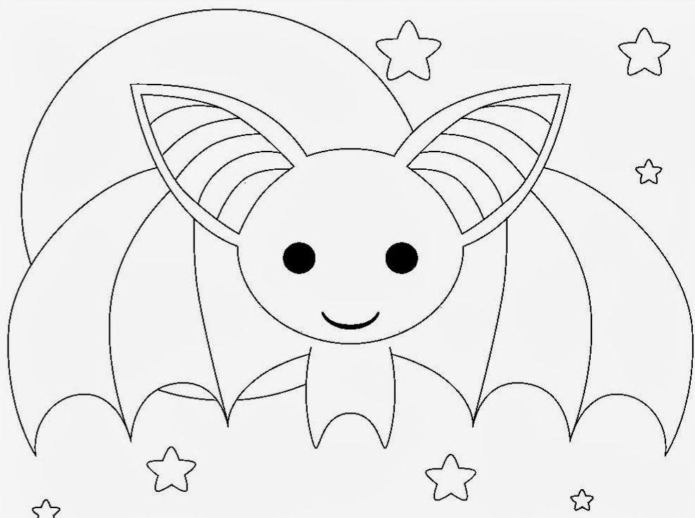 Cute Bat Coloring Pages Kids