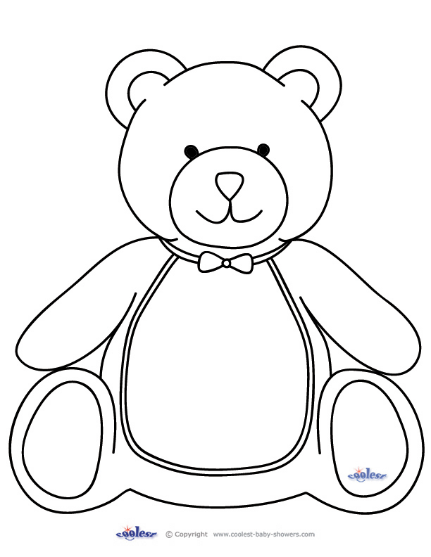 Teddy Bear Outline - AZ Coloring Pages