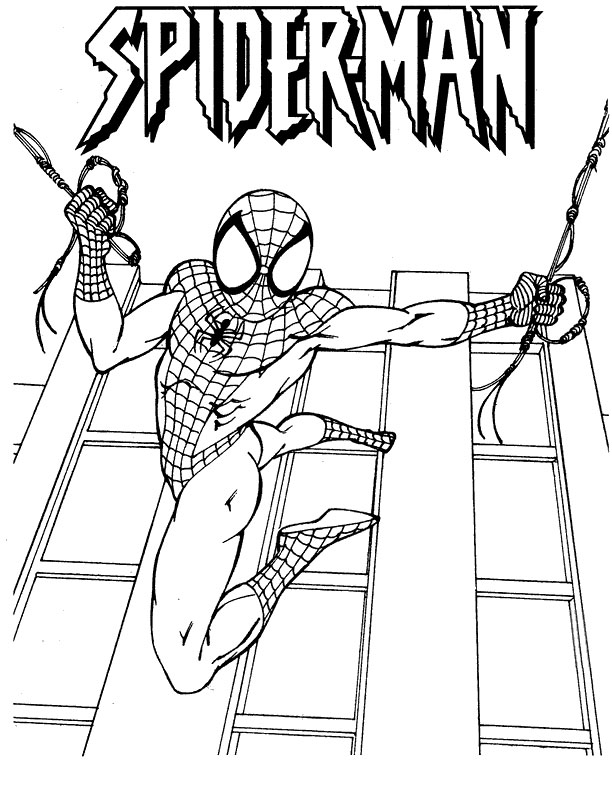 free spiderman coloring pages games - photo#28