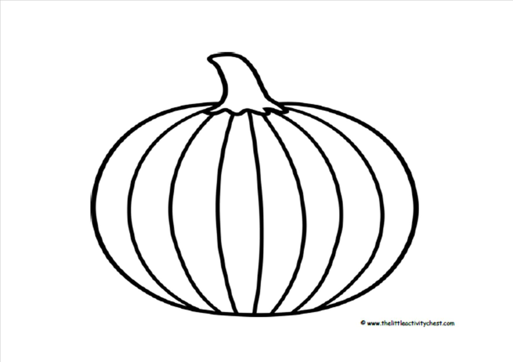 Printable Pumpkin Outline - Coloring Home