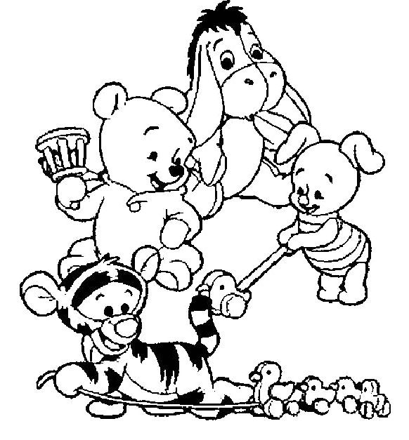baby pooh clipart coloring pages - photo#45